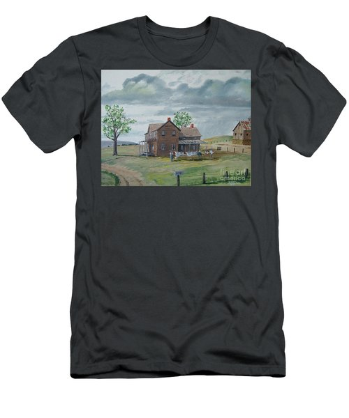 Bringing In The Clothes Men's T-Shirt (Slim Fit) by Norm Starks
