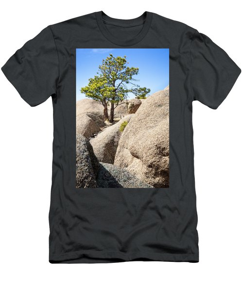 Men's T-Shirt (Athletic Fit) featuring the photograph Bristlecone In Granite 2 by Tim Newton
