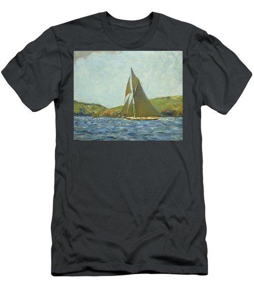 Men's T-Shirt (Slim Fit) featuring the painting Britannia by Henry Scott Tuke