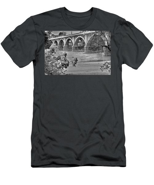 Gervais Street Bridge Black And White Men's T-Shirt (Athletic Fit)
