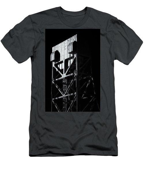 Broadway Bridge South Tower Detail 3 Monochrome Men's T-Shirt (Athletic Fit)