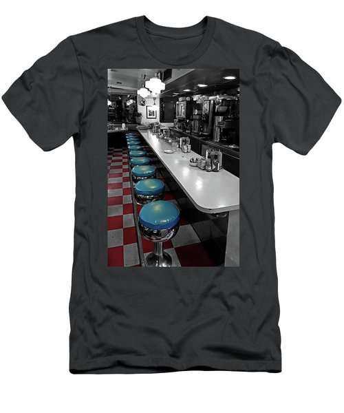 Broadway Diner Chairs Men's T-Shirt (Slim Fit) by Christopher McKenzie
