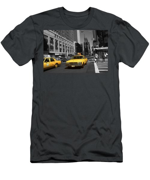 New York Yellow Taxi Cabs - Highlight Photo Men's T-Shirt (Athletic Fit)