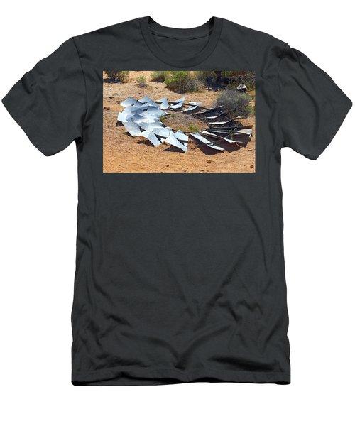 Men's T-Shirt (Slim Fit) featuring the photograph Broken Wheel Of Fortune by Viktor Savchenko