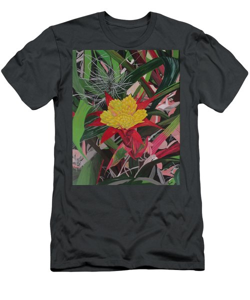 Bromelaid And Airplant Men's T-Shirt (Slim Fit) by Hilda and Jose Garrancho
