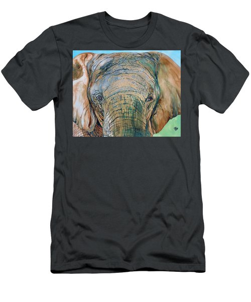 Bronze Elephant Men's T-Shirt (Slim Fit) by Raymond Perez