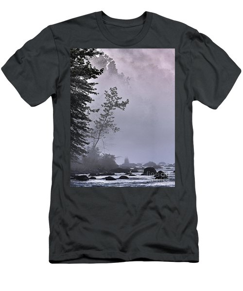 Men's T-Shirt (Slim Fit) featuring the photograph Brooding River by Tom Cameron
