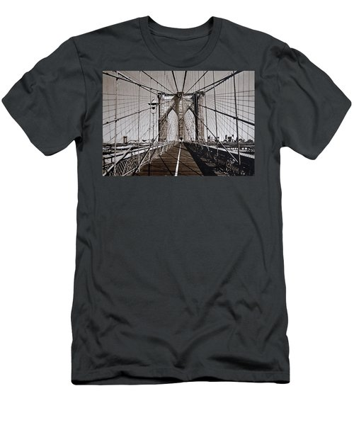 Brooklyn Bridge By Art Farrar Photographs, Ny 1930 Men's T-Shirt (Athletic Fit)
