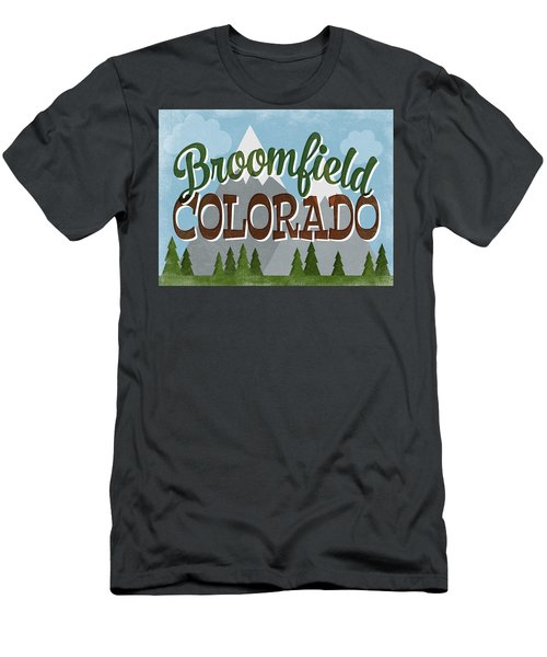 Broomfield Colorado Snowy Mountains Men's T-Shirt (Athletic Fit)