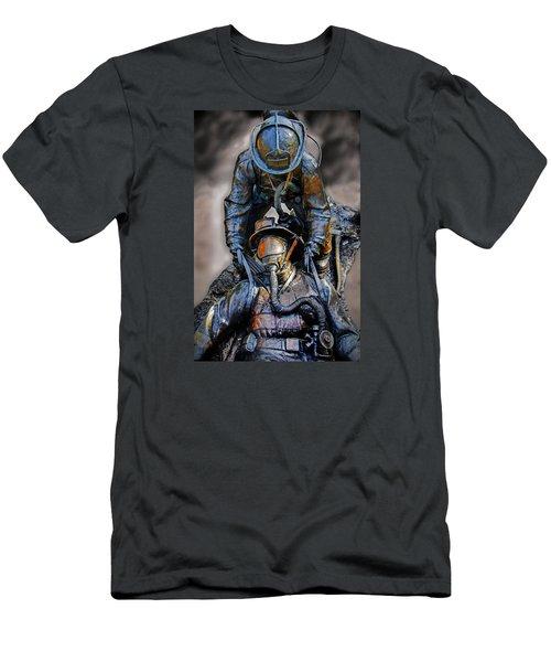 Brothers II Men's T-Shirt (Slim Fit) by Susan McMenamin