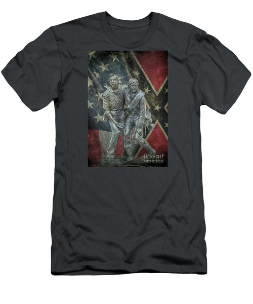 Men's T-Shirt (Slim Fit) featuring the digital art Brothers To The End by Randy Steele