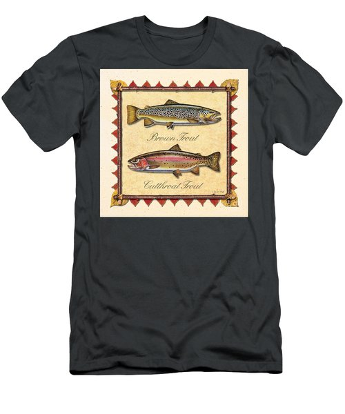Brown And Cutthroat Creme Men's T-Shirt (Slim Fit) by JQ Licensing