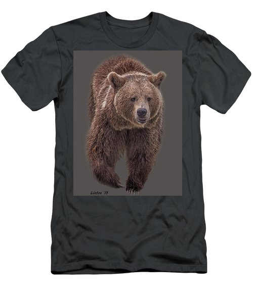 Men's T-Shirt (Athletic Fit) featuring the digital art Brown Bear 8   by Larry Linton