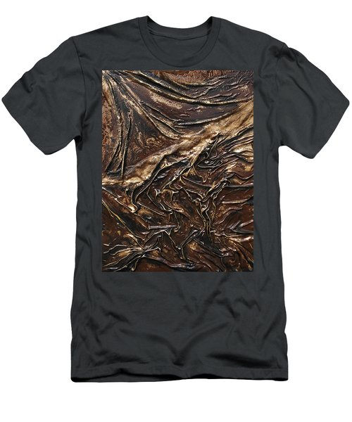 Brown Lace Men's T-Shirt (Athletic Fit)