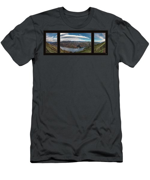 Men's T-Shirt (Slim Fit) featuring the photograph Brownlee Triptych by Leland D Howard