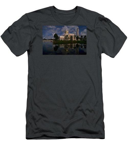 Brunei Mosque Men's T-Shirt (Slim Fit) by Travel Pics