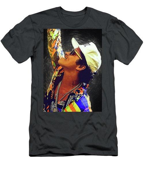 Bruno Mars Men's T-Shirt (Slim Fit) by Semih Yurdabak