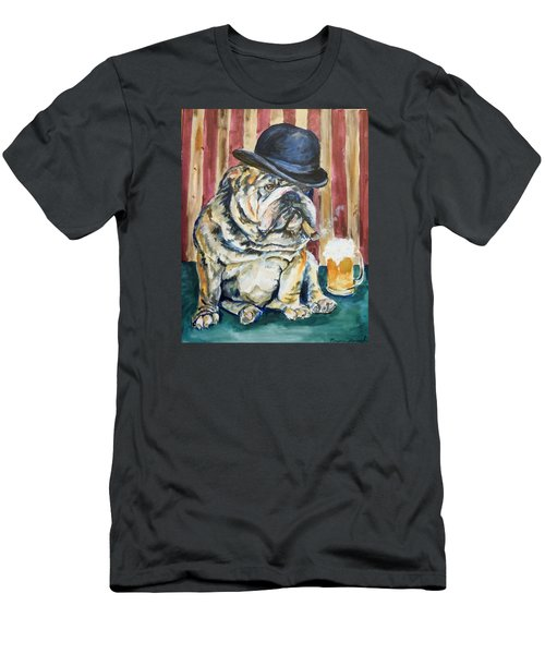 Men's T-Shirt (Slim Fit) featuring the painting Bruno by P Maure Bausch