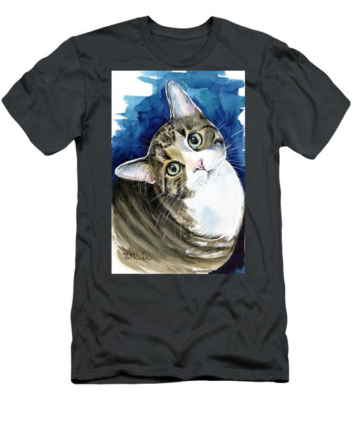 Bubbles - Tabby Cat Painting Men's T-Shirt (Athletic Fit)