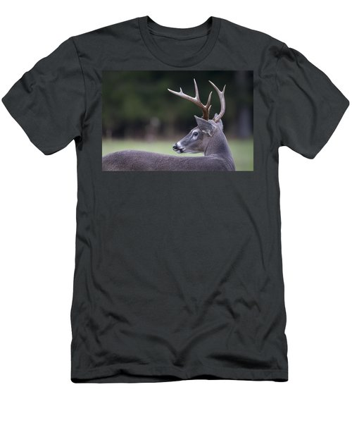 Men's T-Shirt (Slim Fit) featuring the photograph Buck by Tyson and Kathy Smith