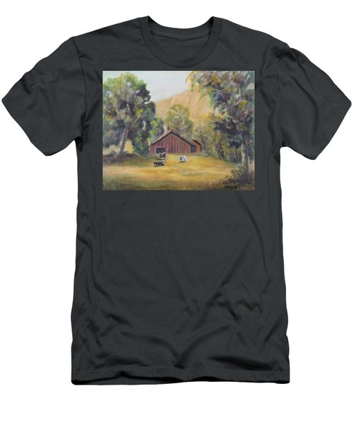 Bucks County Pa Barn Men's T-Shirt (Athletic Fit)