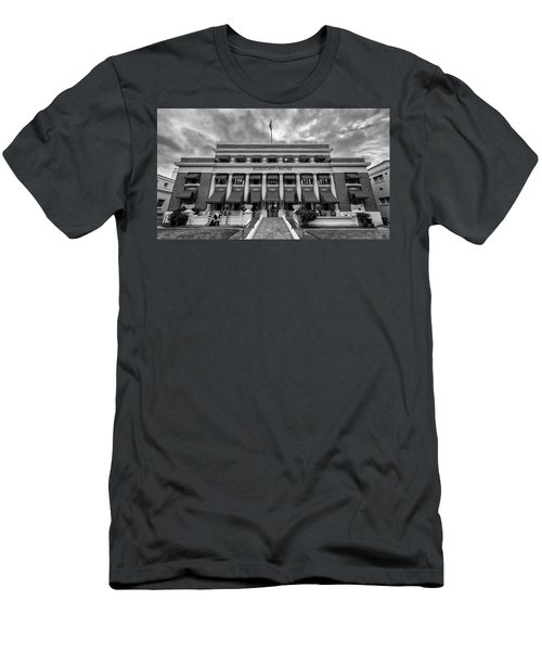 Men's T-Shirt (Slim Fit) featuring the photograph Buckstaff Baths - Bw by Stephen Stookey