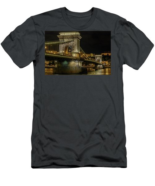 Men's T-Shirt (Athletic Fit) featuring the photograph Budapest Chain Bridge by Steven Sparks