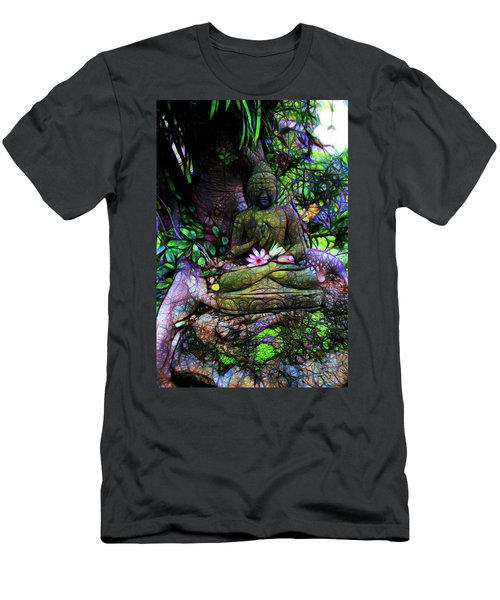 Buddha And The Lotus Men's T-Shirt (Athletic Fit)