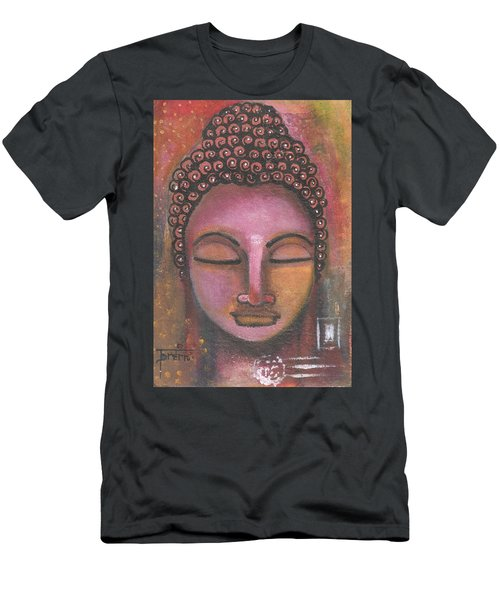 Buddha In Shades Of Purple Men's T-Shirt (Athletic Fit)