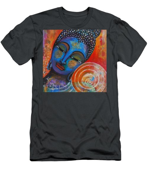 Men's T-Shirt (Slim Fit) featuring the painting Buddha by Prerna Poojara