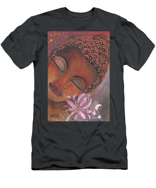 Buddha With Pink Lotus Men's T-Shirt (Athletic Fit)