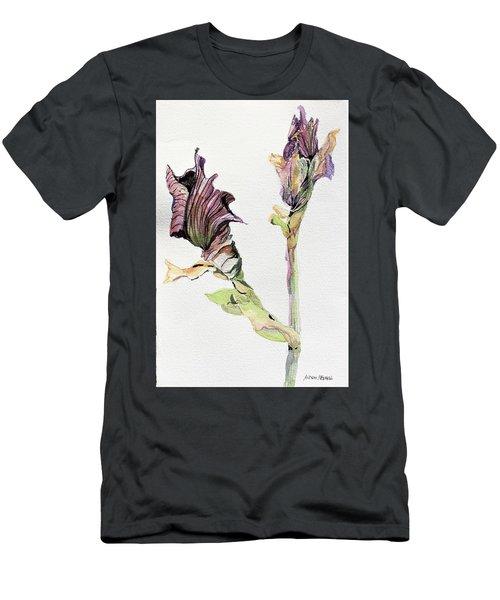 Budding Irises Men's T-Shirt (Slim Fit) by Mindy Newman