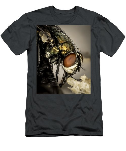 Men's T-Shirt (Athletic Fit) featuring the photograph Bug On A Bug by Chris Cousins