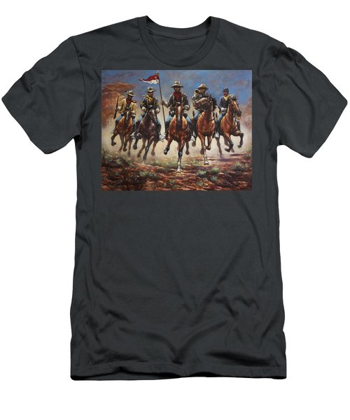 Bugler And The Guidon Men's T-Shirt (Athletic Fit)