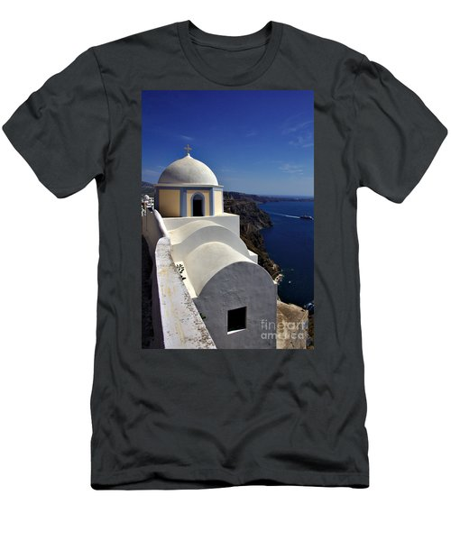 Building In Fira Men's T-Shirt (Athletic Fit)