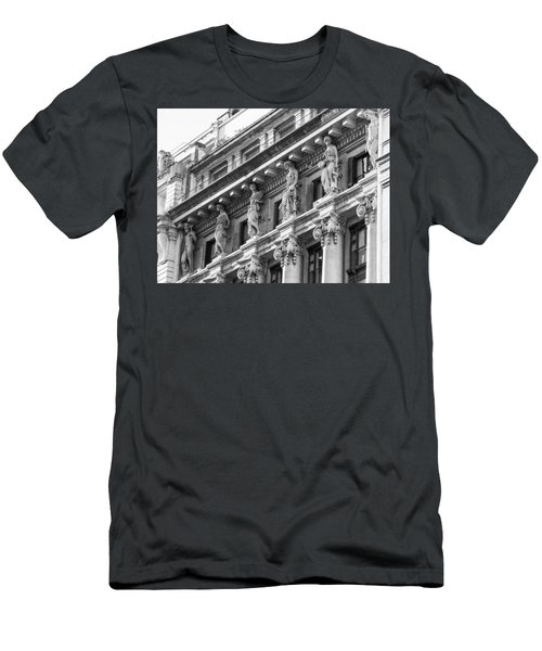 Men's T-Shirt (Slim Fit) featuring the photograph Building by Silvia Bruno