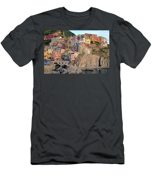 Men's T-Shirt (Slim Fit) featuring the photograph Built On The Slope by Frozen in Time Fine Art Photography