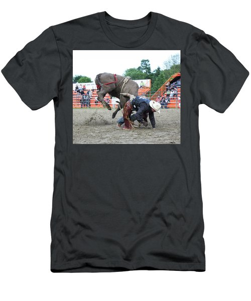 Bull Riding Action Men's T-Shirt (Athletic Fit)