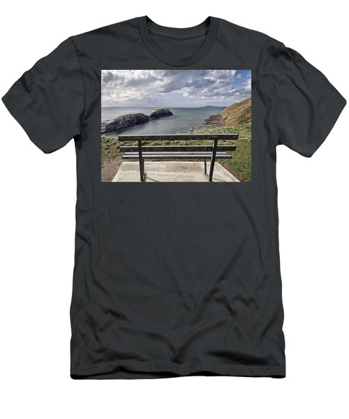 Bundoran - View Over The Diving Platform At Rougey Rocks Men's T-Shirt (Athletic Fit)