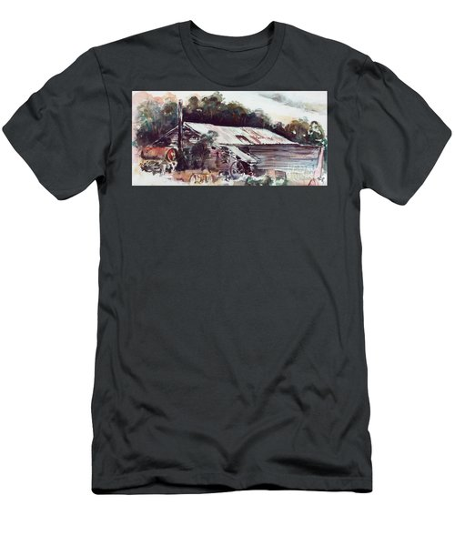 Men's T-Shirt (Athletic Fit) featuring the painting Buninyong Dairy by Ryn Shell