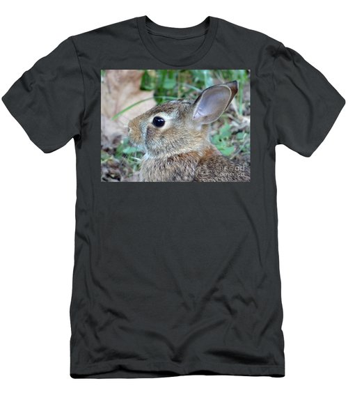 Bunny Portrait Men's T-Shirt (Athletic Fit)
