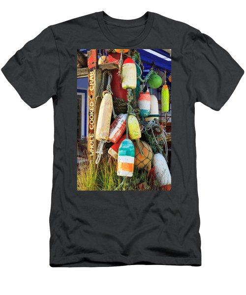 Buoys At The Crab Shack Men's T-Shirt (Athletic Fit)