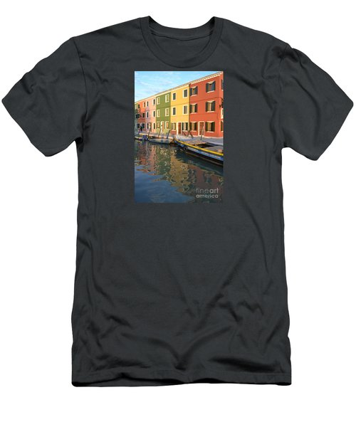 Burano Italy 1 Men's T-Shirt (Slim Fit) by Rebecca Margraf