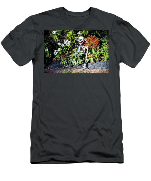 Men's T-Shirt (Slim Fit) featuring the photograph Buried Alive - Skeleton Garden by Colleen Kammerer