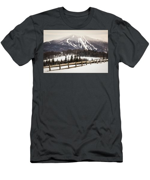 Burke Mountain And Fence Men's T-Shirt (Athletic Fit)