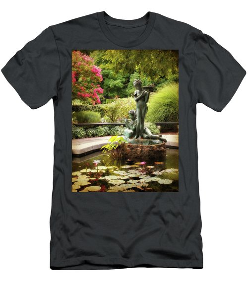 Burnett Fountain Garden Men's T-Shirt (Athletic Fit)