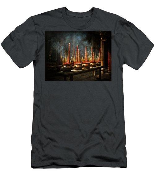 Burning Incense Men's T-Shirt (Athletic Fit)
