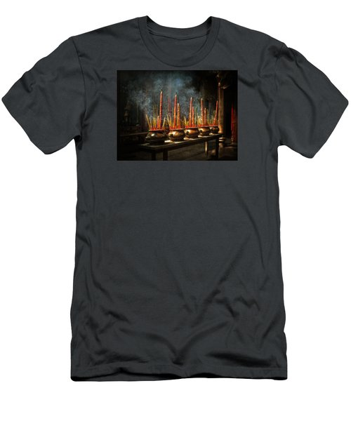 Burning Incense Men's T-Shirt (Athletic Fit)