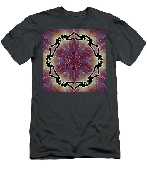 Men's T-Shirt (Athletic Fit) featuring the digital art Burning Movement by Derek Gedney