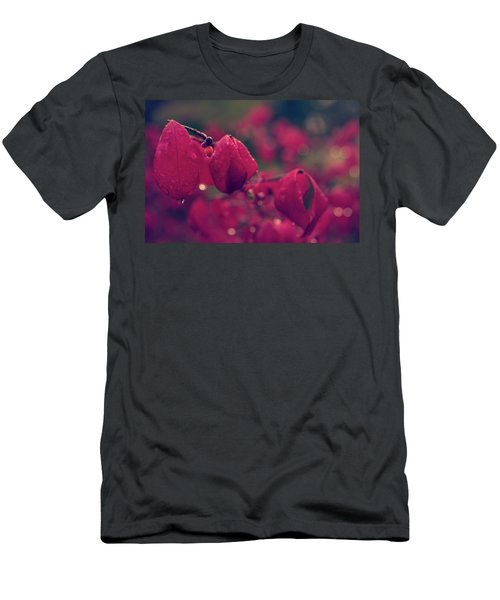 Men's T-Shirt (Athletic Fit) featuring the photograph Burning Red by Gene Garnace